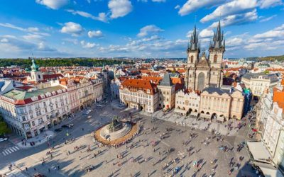 bird view alun alun kota prague